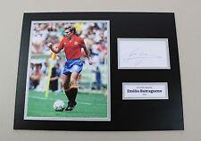 Emilio Butragueno Signed 16x12 Photo Spain Autograph Memorabilia Display COA