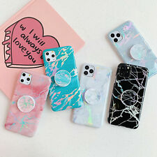 Colorful Marble Cases Covers Soft Kickstand Holder For iPhone 11 Pro Max XS XR X