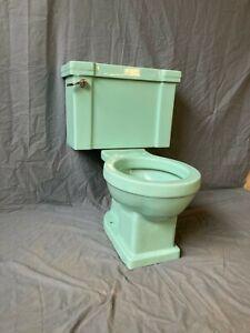 Vtg Jadeite Ming Green Porcelain Mid Century Toilet Bowl Tank Standard 610-20E