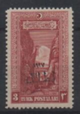 1927 TURKEY İZMİR FAIR. 3 k TRAIN RAILROAD STAMP MH