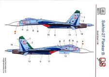 "Hungarian Aero Decals 1/48 RUSSIAN SUKHOI Su-27 FLANKER B ""THE SHARK"" Scheme"