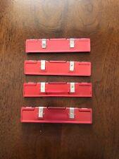 DISSIPATORE Calore RAM Pc Alluminio Rosso 4pz