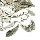 Tibetan Wing Charms Antique Silver 5-40mm Pack Of 30g