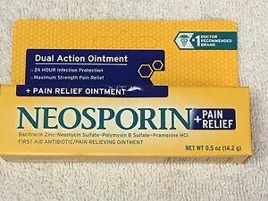 NEOSPORIN, DUAL ACTION Ointment, 0.5oz Pain Relief Maximum Strength #1 Dr. Brand