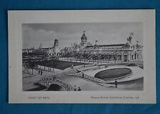 1908 Postcard Franco British Exhibition London Court Of Arts Valentine's