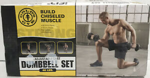 Gold's Gym Adjustable Cast Iron Dumbbell Set 40 lbs