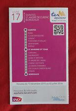 Fahrplan SNCF TER Aquitaine Saintes - Bordeaux Linie 17 - nicht Deutsche Bahn