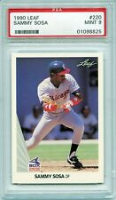 1990 LEAF #220 SAMMY SOSA RC WHITE SOX PSA 9 Rookie Chicago Cubs