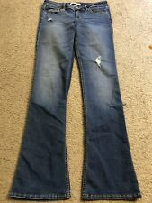 HOLLISTER Stretch Distressed Low Rise Slim Fit Skinny Boot Cut Jeans womens 7
