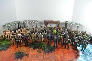 50+ Action Figure Lot 3 3/4 3.75 1/18 Chap Mei Military Lanard GI Joe