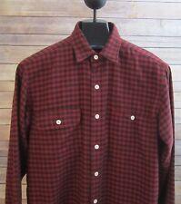 POLO RALPH LAUREN Mens Medium Red Black Check Plaid LS Cotton Shirt M