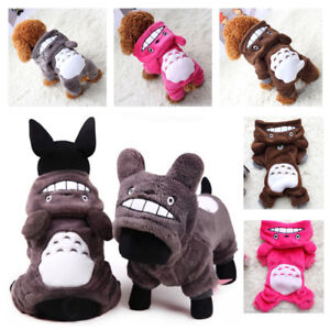 Warm Totoro Hoodie Costume Apparel Dog Puppy Clothes Cat Pet Jacket Coat Sweater
