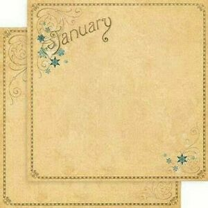 Graphic 45 Place in Time Collection Calendar Blank 12 x 12 Cardstock PICK Month