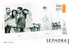 PUBLICITE ADVERTISING 094  2009   CALVIN KLEIN  parfum  ( 2 pages) THE ONE