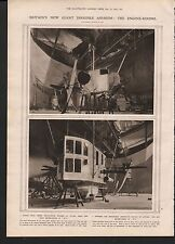 1919 BRITAINS NEW GIANT DIRIGIBLE AIRSHIPS THE ENGINE ROOMS ROLLS ROYCE ENGINES
