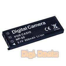 Camera Battery For CASIO NP-50 Exilim EX-V7 EX-V8 V7SR V8SR NP-50DBA 950mAh