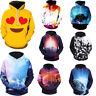 Mens Women 3D Multi-style Graphic Sweatshirt Hoodie Pullover Long Sleeve Tops