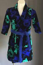 Boys Dressing Gown Dragon Print Black, Blue & Green Warm Fleece Size 5/6