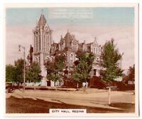 Regina City Hall  Saskatchewan Province Canada 1930s Trade Ad  Card
