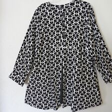 NEW JERSEY softe Long Jacke Jersey Strukturgewebe  A-Linie schwarz-weiß 46-48(4)