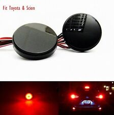 Black Rear Bumper Reflector LED Break Fog Backup Lights For Toyota Scion xB iQ