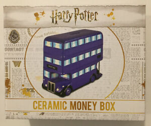 Official Harry Potter Ceramic Knight Bus Money Box Piggy Bank ~ New Sealed Boxed