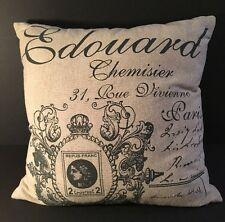 FRANCE PARIS SCRIPT ACCENT PILLOW CHIC FRENCH THROW TOSS CUSHION Very Nice