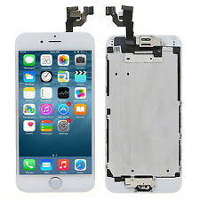 White LCD Touch Digitizer Screen + Home Button Camera Assembly Part for iPhone 6