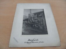 antique Photo Moteur fixe Moteur stationnaire Treuil à vapeur