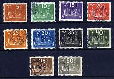 SWEDEN 1924  8th. U.P.U. Congress Part Set SG 146 to SG 155 VFU