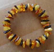 Stretch  multicolor Baltic Amber Bracelet