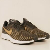 Nike Air Zoom Pegasus 35 Black Metallic Gold Sneakers 942855-007 Womens Sz 10.5