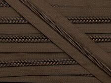 ZN05A-G8 20yards #5 DARK BROWN (568) Nylon coil continuous zipper tape Zip chain