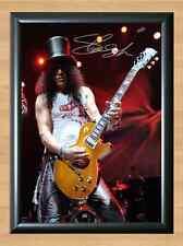 Slash Guitar Guns N Roses Signed Autographed A4 Print Poster Photo Guitarist CD