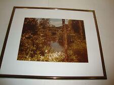 Pond Bridge Tree Photograph In A Schneider Custom Frame Pewter Metal Park Nature