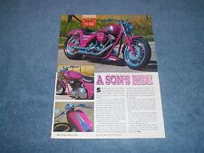 "1991 Harley-Davidson FXLR Custom Motorcycle Article ""A Son's Ride"" From 1995"