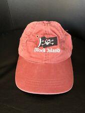 Block Island Pirate Skull Bones Flag Ahead Headgear Hat Cap Jrs Youth Ages 3-7