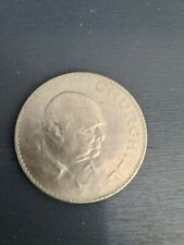 1965 CROWN COIN ISSUED TO COMMEMORATE THE DEATH OF SIR WINSTON CHURCHILL. A...