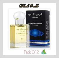 2 Black Oudh 15ml Attar Perfume oil by Al Haramain - Oudh, Patchouli, Vanilla