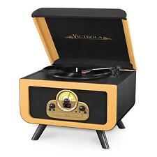 Retro Turntable Record Player 3 Speed CD Player USB Recorder AM/FM Radio Vintage