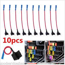 10PCS Add Circuit ACU Piggy Back Tap Standard Blade Fuse Holder 10A Medium Size