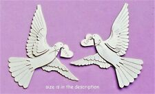 EK SUCCESS JOLEE'S BY YOU 3-D EMBELLISHMENTS - BIRDS, HEARTS, LOVE - WHITE DOVES