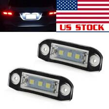 2pcs White LED License Plate Lights Number Lamps Bulbs for Volvo XC60 XC70 XC90