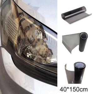 Auto Car Gloss Lights Black Smoke Vinyl Film Tint Headlight Taillight Wrap Cover