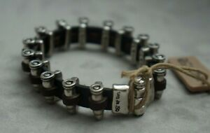 "NWT Uno de 50 Unisex Silver Bullet BALADA TRISTE Reversible Cuff Bracelet 7.5"""
