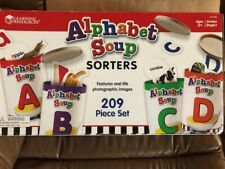 Learning Resources Alphabet Soup Sorters, Early Phonics, Abcs, Alphabet Awarenes
