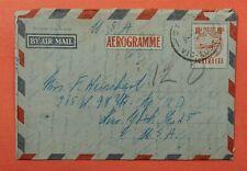 Dr Who 1955 Australia Aerogramme To Usa C219945