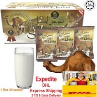 2 Boxes Camel Milk Powder Natural With High Protein & Calcium HALAL (20's) - New