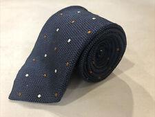 Ermenegildo Zegna Men's Navy Polka Dot Neck Tie $138