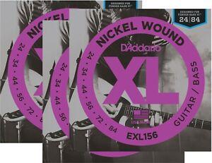 D'Addario Fender Bass VI Guitar Strings Octave Below Ball End 3 Sets EXL156